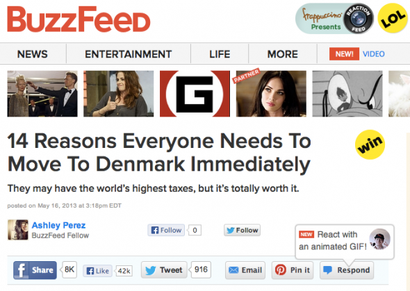 buzzfeed move to Denmark
