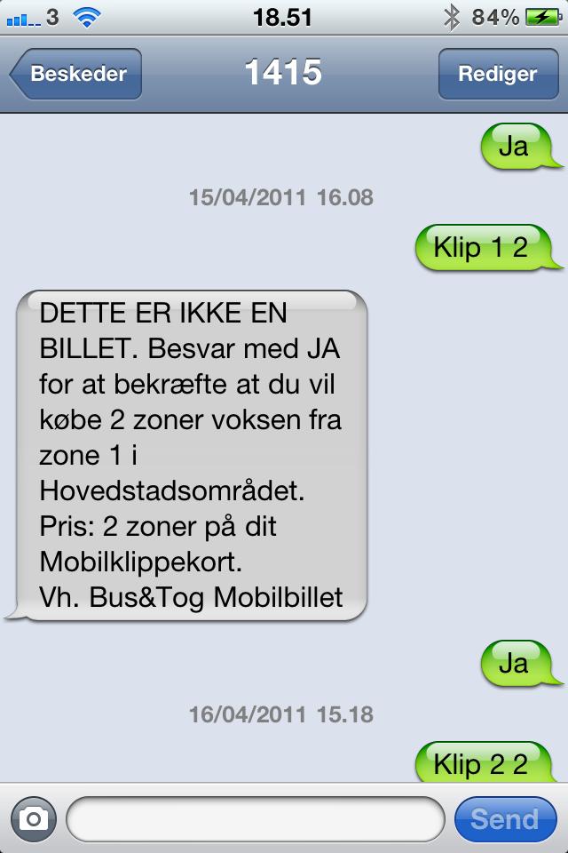 dsb mobilbillet sms